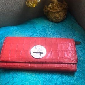 Kate spade faux leather wallet